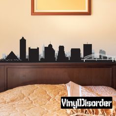 Memphis Tennessee Skyline Vinyl Wall Decal or Car Sticker SS072