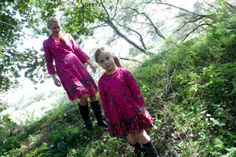 Beautiful pink Mim-Pi MAMA dresses,