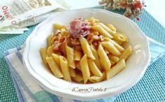 Pasta con crema di zucca e speck - Ricette facili con foto