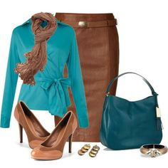 How to Wear Turquoise For A Warm Autumn