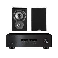 Yamaha R S202 Stereo Receiver With Bluetooth And Polk TSi100 2 Way Bookshelf Speakers