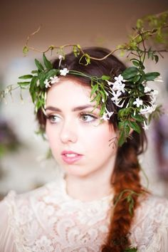 fishtail plait by tinsel tiara for The Wedding institute pic by stephen Phillip Brown/ makeup by Jo/ Darling & Green florist