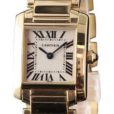 Cartier Cartier Tank Francaise W50002N2 18K Yellow Gold Womens Watch | TrueFacet