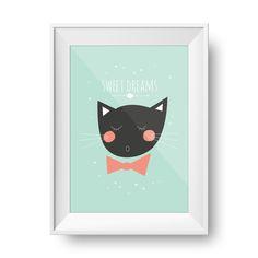"""Poster """"Sweet Dreams"""" pour chambre d'enfant   Happy Corner Papeterie : Affiches, illustrations, posters par happycorner"""