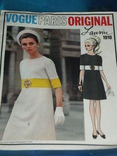 VPO 1910 Lanvin Dress 60s Sz10 c/c? sld 8.99+3 1bd 7/5/17