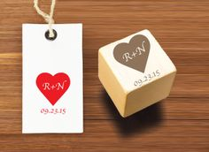 Custom Personalized Rubber Stamp - Made to order - You choose the initials and date