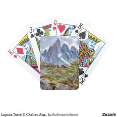 Laguna Torre El Chalten Argentina Bicycle Playing Cards
