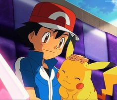 "Awww, i love the part when Ash pets Pikachu and Pikachu let a cute ""Chaaa! Pokemon Ash And Serena, Pokemon X And Y, Pokemon Gif, Pokemon Movies, Pokemon People, Cute Pokemon, Pokemon Kalos, Pokemon Ash Ketchum, Pikachu Art"