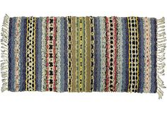 "Swedish Rag Rug, 3'4'' x 1'8"" on OneKingsLane.com"