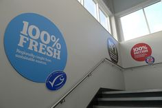 100% fresh fish by J Sainsbury, via Flickr Tone Of Voice, Sainsburys, Signage, Sustainability, The 100, British, Fish, Photos, Decor