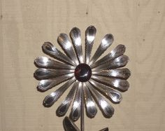 Silverware Garden Art | Garden Art Flatware Sculpture Spoon Handle Flower