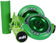 Razor Scooter Pro Color Kit Green by ECX. $58.94. Dress up your Razor Pro Model, Ultra Pro or any freestyle kick scooter with the ECX Pro Color Kit! Our color kits include a pair of Yak Scat II Metal core wheels in 100mm size, a set of matching ODI Longneck grips with bar plugs and a matching sheet of grip tape. Turn your old scooter into a mean freestyle machine!!! This Kit comes with FREE ABEC 5 Bearings and Spacers Installed!