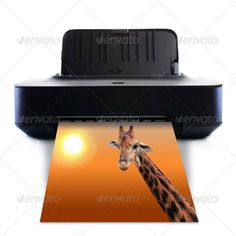 Buy Printer and picture with Giraffe by Naypong on PhotoDune. Printer and picture with Giraffe Wireless Printer, Giraffe, Stock Photos, Ideas, Saving Tips, The Office, Things To Do, Entertainment, Offices