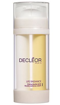 Decleor Life Radiance Double Radiance Cream 2 An instant radiance cream composed of 2 formulations presented in double packaging to treat the brightness of the skin from the outside and inside. A rich cream and a fresh gel to be mixed in the palm http://www.MightGet.com/march-2017-1/decleor-life-radiance-double-radiance-cream-2.asp