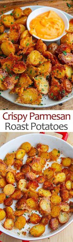 Crispy Parmesan Roast Potatoes [could be good with sweet potatoes, too!]