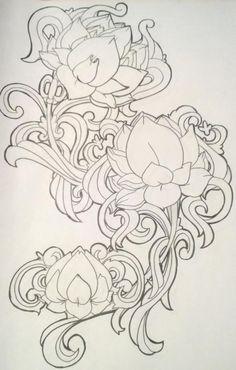 Lotus Filigree Tattoo by LolaLotus on DeviantArt Tattoo Drawings, Art Drawings, Flower Drawings, Kerala Mural Painting, Jugendstil Design, Leather Tooling Patterns, Illustrator, Leather Carving, Leather Art