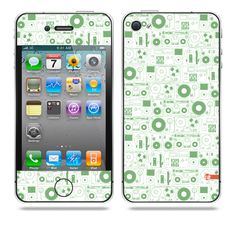 Evolution of Audio Green iPhone skin by TAJTr