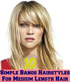 Simple Bangs Hairstyles For Medium Length Hair
