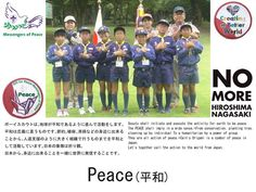 """No more Hiroshimas."" Messengers of Peace from JAPAN 「黙祷」Silent prayer (2014.8.6)"