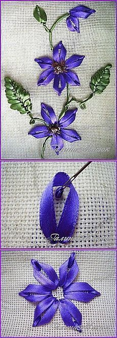 Wonderful Ribbon Embroidery Flowers by Hand Ideas. Enchanting Ribbon Embroidery Flowers by Hand Ideas. Ribbon Embroidery Tutorial, Silk Ribbon Embroidery, Cross Stitch Embroidery, Embroidery Patterns, Hand Embroidery, Embroidery Supplies, Embroidery Tools, Machine Embroidery, Embroidery Tattoo
