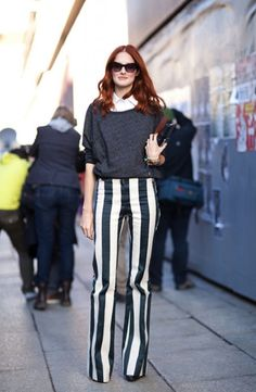 Vertical stripes can be tricky but we say be bold with a single striped item, be it skinny jeans or maxi skirt.