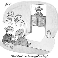 Tom Toro's first cartoon picked up by The New Yorker. The 610th drawing he had submitted to the magazine, it was published the week of his 28th birthday.