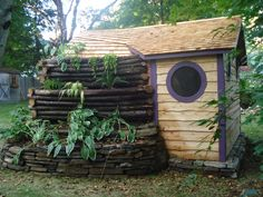 Cottages, Sheds, Saunas - Hobbit Hole playhouses, chicken coops, doghouses, more!