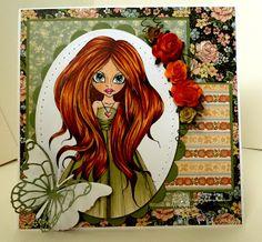 Corinne's amazing work  I used my Copic's  E000,00,01,11, BV20 = flesh  E08,09,57,YR14 = hair  YG91,93,97 = dress  RV02,04,09 = lips / heart  B00,02, 04 = eyes