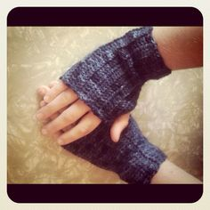 Hello. Oh, how I love wearing crochet fingerless gloves and these are pretty easy to make and stretchy. Here is the pattern :o) ...
