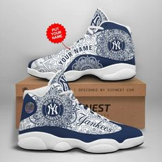 Jordans Sneakers, Air Jordans, New York Yankees, Shoes, Fashion, Moda, Zapatos, Shoes Outlet, Fashion Styles