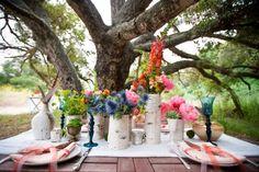 Beautiful Tablescape by Courtney Cole of White Flower boutique #weddingcenterpieces