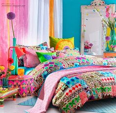 Colorful Bedroom bright colored bedroom colorful bedroom home bright colors neon