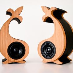 Love Serene Audio's whole line of speakers. Made from bamboo, leather and metal ~ very cool.
