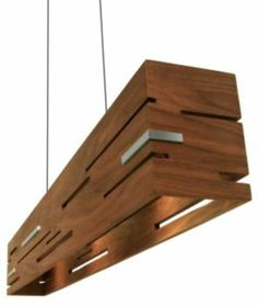 Aeris LED Linear Pendant by Cerno at Lumens.com .. one could probably do this with plywood .. and paint it a fun color .. ?
