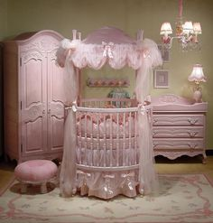 I love this crib, its really close to the crib I absolutely want from TreeHouse kids. My crib is white though and this one looks a little pink. Pink is pretty but I like classic white crib with the white bedding.