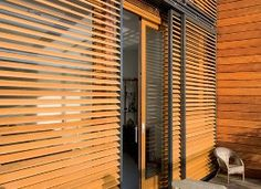 Hunter Douglas Sliding Shutters blend style and functionality - inside and out.