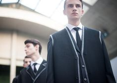 Grandad cardigan suit backstage at Dior Homme AW15 PFW. See more here: http://www.dazeddigital.com/fashion/article/23369/1/dior-homme-aw15