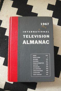 1967 International television almanac Hardback reference Book Charles Aaronson