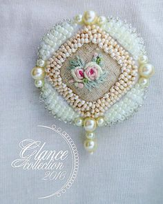 Брошь Rokoko #beadwork #брошь #брошка #bead#broach#handwork #мода #rokoko…