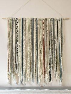 Hanging Banner, Yarn Wall Hanging, Large Macrame Wall Hanging, Wall Hangings, Bohemian Tapestry, Bohemian Decor, Wall Tapestry, Boho Chic, Custom Headboard
