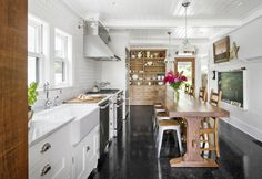 """This reader's Washington eat-in kitchen was """"inspired by the meals I had at my grandmother's home, where there was no formal dining room."""""""