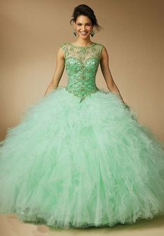 Quinceanera dresses by Vizcaya Embroidery and Beading on a Tulle ...