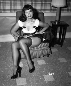 These vintage photos of legendary pinup girl Bettie Page were nearly destroyed - The Washington Post