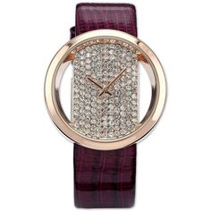 #Luxury Rose Gold Case Bling #Crystal Purple #Leather Women Lady #Quartz #WristWatch Only $22