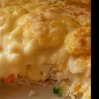 Chicken and Biscuit Bake. This was really yummy. Maybe a half cup more chicken stock