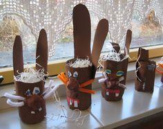 Paasmandje - paashaas Farm Animals, Gingerbread Cookies, Diy, Lenten, Tin Cans, Holiday, Crafts, Inspiration, Kindergarten