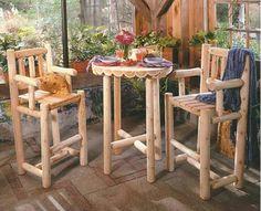 Cedar Bistro Set - Home and Garden Design Ideas