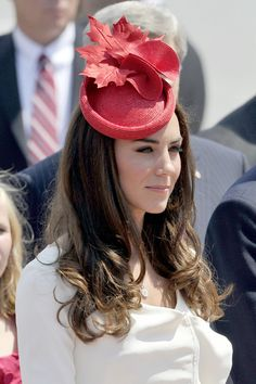 Kate Middleton wore this hat in Canada. (A red maple leaf? Good choice.)