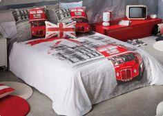 London Themed Bedding | London Themed Bedroom