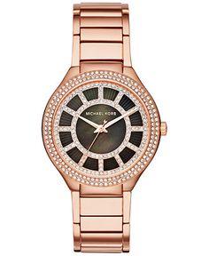 Michael Kors Women's Kerry Rose Gold-Tone Stainless Steel Bracelet Watch 37mm MK3397 - Women's Watches - Jewelry & Watches - Macy's